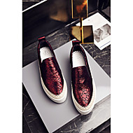 Women's Loafers & Slip-Ons Spring Fall Winter Comfort Leather Outdoor Casual Flat Heel Others Red Gray Walking