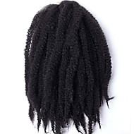 Havanna / Göndör Afro Kinky Zsinór Póthajak 18-20inch Kanekalon 3 Part 120g/pack gramm Hair Zsinór