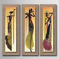 Peint à la main Abstrait / Personnage / Nature morte / Fantaisie / A fleurs/Botanique Peintures à l'huile,Modern / Réalisme / Style