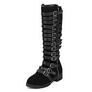 Feminino-Botas-Saltos / Plataforma / Inovador / Botas de Cowboy / Botas de Neve / Botas Cano Curto / Arrendondado / Botas Montaria /