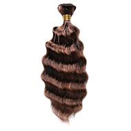 Cabelo Humano Cabelo Indiano Cabelo realçado Ondas Médias Extensões de cabelo 1 Peça Marrom Médio / Medium Auburn