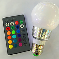 E26/E27 Colorful RGB Remote Control Bulb 3W