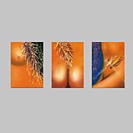 Pessoas / Fantasia Impressão em tela 3 Painéis Pronto para pendurar,Horizontal