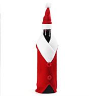 jul vinflaske satt julenissen knappen innredning flaske dekke cap klær kjøkken dekorasjon for nye år xmas