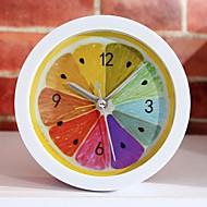 nouveau style rural fraîche fruits de citron réveil modernes horloges de bureau minimaliste paresseux d'horloge de montre