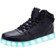 יוניסקס-נעלי ספורט-עור-נוחות-שחור / אדום / לבן-שטח / קז'ואל / ספורט-עקב נמוך