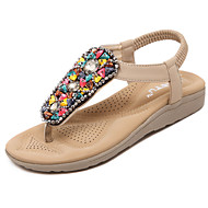 Women's Sandals Spring Summer Fall Mary Jane Gladiator Leatherette Casual Dress Low HeelRhinestone Crystal Applique Sparkling Glitter