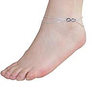 l'infini 2 couche bracelet chaîne de charme bracelet cheville plage sandale bijoux aux pieds nus