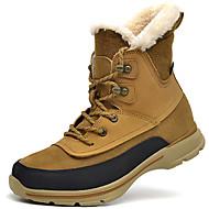 Unissex-Botas-Botas de Neve-Rasteiro-Preto / Amarelo / Café-Napa Leather-Ar-Livre / Para Esporte