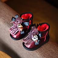 לבנות-מגפיים-דמוי עור-נוחות-שחור / אדום-קז'ואל