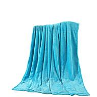 Bedtoppings Blanket Flannel Coral Fleece Queen Size 200x230cm Sky Blue Solid 210GSM