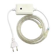 1ks / 1 m eu 220-240 LED RGB Lehká nepromokavá lampa pásu 5050 band zahradní světlo RGB ovladač
