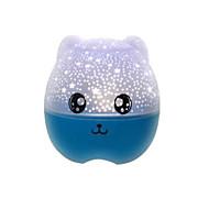 rotatie schattige beer vorm leidde nacht projector lamp licht decor romantische nacht lichte slaapkamer lamp