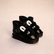 לבנות-מגפיים-דמוי עור-נוחות-שחור / אפור-קז'ואל