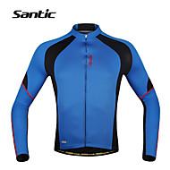 SANTIC® Cykeltrøje Herre Langt Ærme CykelÅndbart / Hurtigtørrende / Ultraviolet Resistent / Fugtpermeabilitet / Svedreducerende /