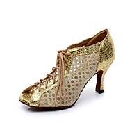 Customizable Women's Dance Shoes Sparkling Glitter Sparkling Glitter Latin Boots Stiletto HeelPractice / Beginner / Professional / Indoor