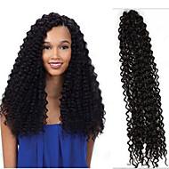 """צמות טוויסט הוואנה Kanekalon שחור חום כהה Dark Auburn חום בינוני תוספות שיער 18"""" שיער צמות"""