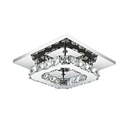8W Flush Mount ,  Modern/Contemporary Electroplated Feature for LED Metal Bedroom / Dining Room / Hallway