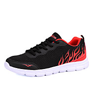 Men's Sneakers Spring /Fall Comfort Tulle Outdoor / Athletic / Casual Flat Heel Lace-up Black / Blue / Gray Walking