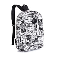 Outdoor Backpack Unisex Canvas Polyester Cotton Blue Black