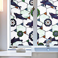 Zvířecí potisk Moderní Fólie na okna,PVC/Vinil Materiál dekorace oken