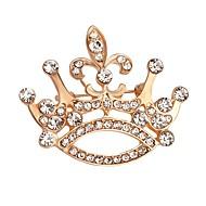 vente chaude brillante Broche couronne de cristal pour les femmes