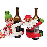 2kpl viinipullon kattaa sarjaa pikkujoulut joulupukki korkki vaatteita pullon xmas lahja punainen uusi vuosi sisustuksessa