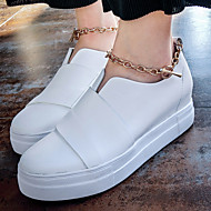 Women's Sneakers Spring / Summer / Fall Comfort Leather Casual Flat Heel Chain / Others Black / White Others
