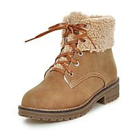 Women's Boots Fall / Winter Platform Fur / Fleece Office & Career / Dress / Casual Platform Fur / Lace-up Brown / Yellow / Gray Others