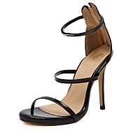 Sandály-Koženka-Pohodlné-Dámské-Černá / Stříbrná / Zlatá / Hořčicová-Běžné-Vysoký