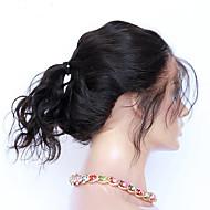 360 frontal Ondulation naturelle Cheveux humains Fermeture Brun roux Dentelle Française 75-95 gramme Moyenne Taille du Bonnet