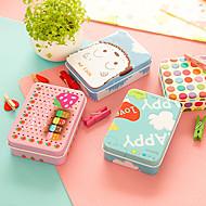 mini tin tafel opbergdoos retro kleur leuk voor kantoorgebruik (willekeurige kleuren)