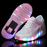 Kid Boy Girl Roller Shoes / Ultra-light Single Wheel Skating LED Light Shoes / Athletic / Casual LED Shoes Black Blue Pink