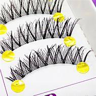 ריסים ריס ריסים מלאים עיניים שתי וערב / הסוף ארוך ריסים מורמים עבודת יד סיב Transparent Band 0.10mm 12mm