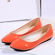 Žene Ravne cipele Jesen Udobne cipele Lakirana koža Ležerne prilike Ravna potpetica DrugoCrna / Plava / Žuta / Ružičasta / Bijela /