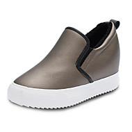 נשים-נעליים ללא שרוכים-דמוי עור-Others-שחור / לבן / אפור-שטח / ספורט / קז'ואל-עקב וודג'