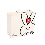 nota de cinco embalado para venda tamanho coelho branco 30 * 27 * 12 das crianças saco de presente de aniversário dom sacos portátil