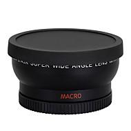 58mm 0.45x עדשת מאקרו עדשת זווית רחבה עבור תותח 350D / 400D / 450D / 500D / 1000D / 550D / 600D / 1100D מצלמת DSLR