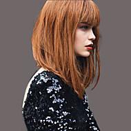 mode élégante perruques de cheveux humains droites pour femme
