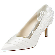 Women's Heels Spring / Fall Others Stretch Satin Wedding / Party & Evening / Dress Stiletto Heel Applique Ivory / White Others