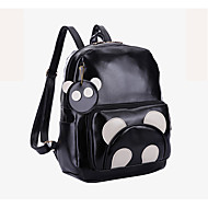 Casual Outdoor Backpack Unisex PU Black