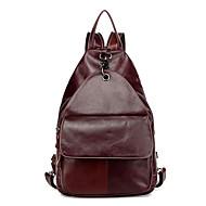Casual Outdoor Backpack Women Cowhide Brown