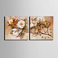 E-HOME® Flower Clock in Canvas 2pcs