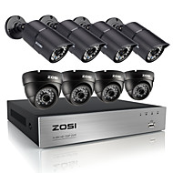 ZOSI®HD 720P 8CH CCTV System DVR 8PCS 1200TVL IR Weatherproof Outdoor Video Security Camera System