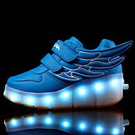 운동화-야외 캐쥬얼 운동-남아 신발-컴포트-가죽-낮은 굽-블랙 블루 화이트