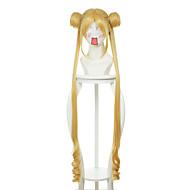 sailor moon usagi tsukino style spécial jaune doré Perruques perruques synthétiques perruques de costume