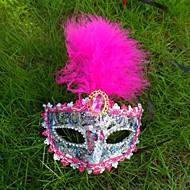 1pc Federmaske Spitze für Halloween-Kostüm-Party zufällige Farbe
