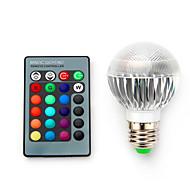 5W E14 / B22 / E26/E27 Lâmpada de LED Smart G60 1 SMD 5050 680 lm RGB Regulável / Controle Remoto / Decorativa V 1 pç