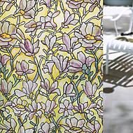 Window Film Window Decals Style Fashion Magnolia Flower PVC Window Film - (100 x 45)cm