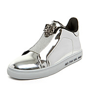 Men's Fashion Boots Casual Patent Leather High Top Shoes Flat Heel Slip-on Black / Blue / Silver Walking EU39-43